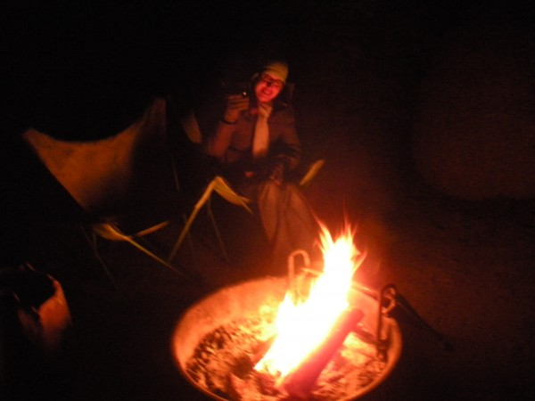 Campfire + wine = awesome.