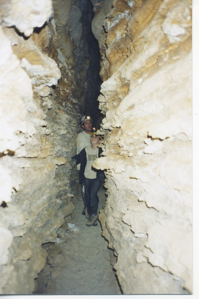 "The Big Fissure - just before ""Denise's Crawl"", Horse Thief Cave."