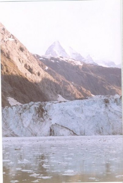 Glacier in Glacier Bay, AK