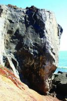 Mickey's Beach - Walking a Thin Line 5.10c - Bay Area, California USA. Click to Enlarge
