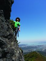 Mount Tamalpais - North Rock East Face Arete 5.7 - Bay Area, California USA. Click to Enlarge