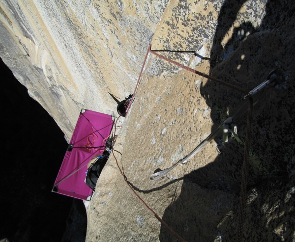 The crux section of the Strange Dihedral.