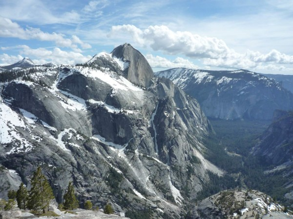 Half Dome in early May, 2010.