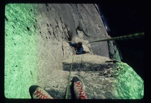 Split Pillar - Grandwall - seconding Hamish on another runout lead