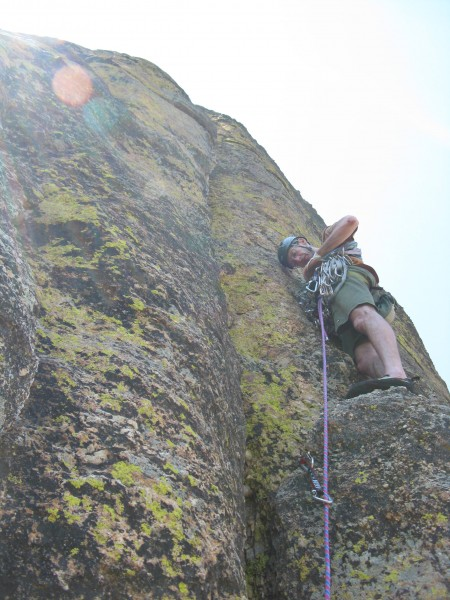 The start of the crux crack
