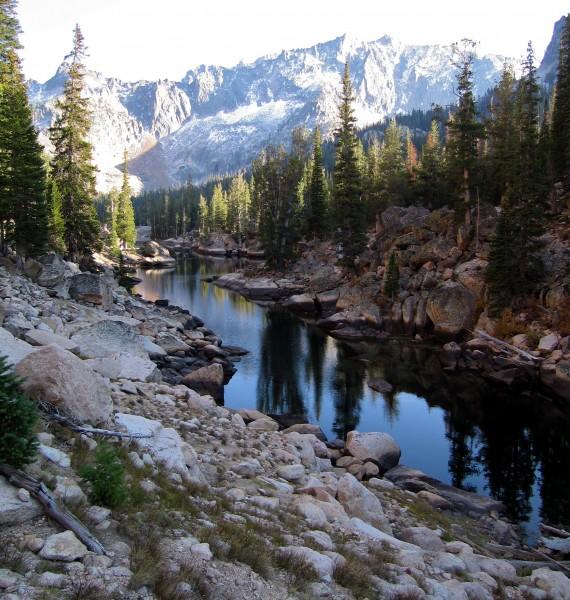 Beautiful Saddle Back Lake at the base of Elephant's Perch