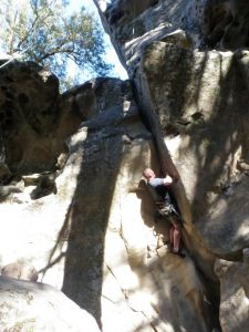 Castle Rock - Farewell to Arms 5.10a - Bay Area, California USA. Click to Enlarge