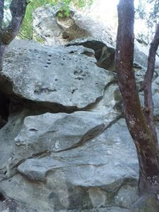 Castle Rock - Vicious Circles 5.10c - Bay Area, California USA. Click to Enlarge