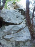 Castle Rock - Vicious Circles 5.10c - Bay Area, California USA. Click to Enlarge