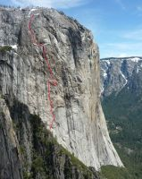 El Capitan - West Face 5.11c - Yosemite Valley, California USA. Click to Enlarge