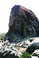 Dos Rios - Black Slab 5.11b/c - Bay Area, California USA. Click to Enlarge