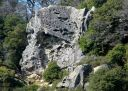 Castle Rock - Center Face - Goat Rock 5.8 - Bay Area, California USA. Click for details.