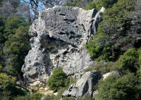 Castle Rock - Center Face - Goat Rock 5.8 - Bay Area, California USA. Click to Enlarge