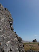 Goat Rock - Sunset Slab 5.6 - Bay Area, California USA. Click to Enlarge