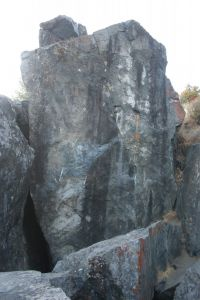 Indian Joe Caves - Orange Arete 5.11a - Bay Area, California USA. Click to Enlarge