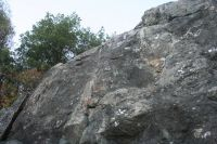 Indian Joe Caves - Cote Memorial Wall 5.4R - Bay Area, California USA. Click to Enlarge
