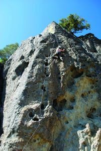 Mt St Helena - Bubble Ladder 5.10d - Bay Area, California USA. Click to Enlarge