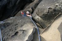 Salt Point, Playground - Conch Crack 5.10b/c - Bay Area, California USA. Click to Enlarge