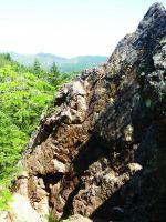 Mt St Helena - Quarry Cracks 5.7 - Bay Area, California USA. Click to Enlarge