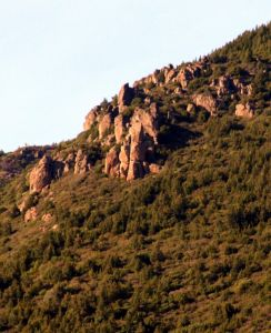 Mt St Helena - The Chief 5.10c - Bay Area, California USA. Click to Enlarge