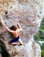 Mt St Helena - Feelin Your Oats 5.10a R - Bay Area, California USA. Click to Enlarge
