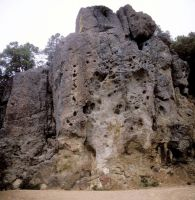 Mt St Helena - West Face 5.10c - Bay Area, California USA. Click to Enlarge