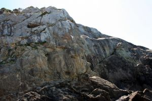 Salt Point, Sentinel Rock - Peg Leg 5.10a - Bay Area, California USA. Click to Enlarge