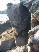 Salt Point, Sentinel Rock - Swashbuckler 5.11b/c - Bay Area, California USA. Click to Enlarge