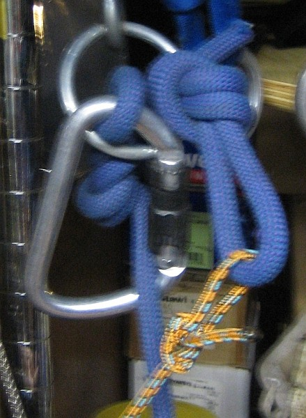 Hangup mode of Petzl setup, different angle.  You are being held by th...