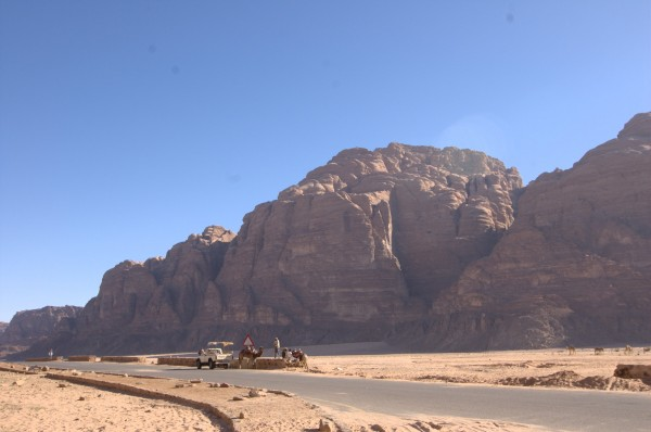 View of Jebel Um Ishrin from the resthouse