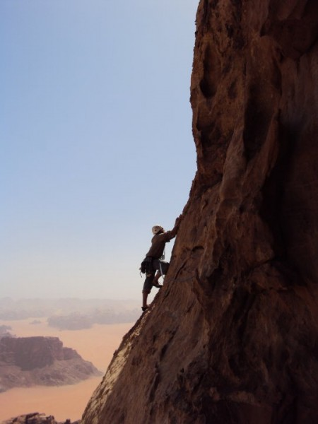 Me leading the final pitch on Pillar of Wisdom