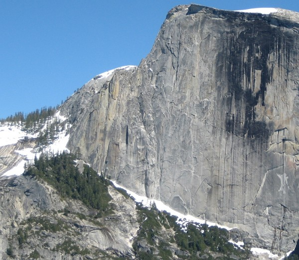 Half Dome NW Face - May 29, 2010 (above average snow year) - i...