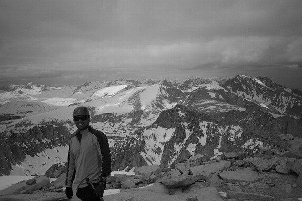 Summit of Mt. Whitney via the Mountaineer's Route. May 2010.