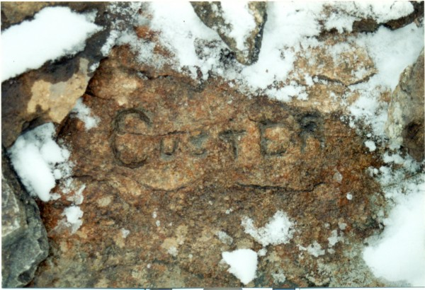 "Custer's ""signiture"" on Inyan Kara"