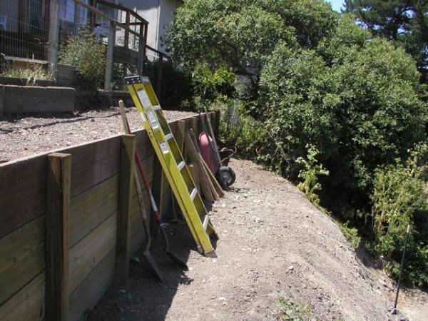 Retaining wall project.