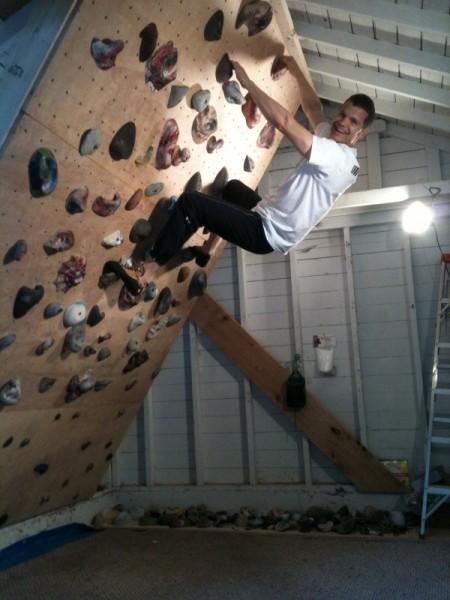 My friend, Corey, posing from the summit (w/o oxygen).