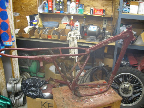 the frame for the Jawa type 575 circa 1963/4
