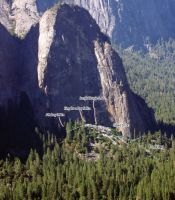 Mecca - Last of The Mohicans 5.11d - Yosemite Valley, California USA. Click to Enlarge