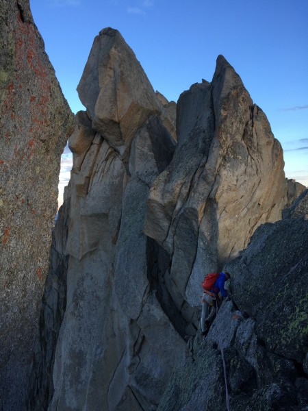 Wolf's Head has probably the best climbing of the whole Traverse.  Bry...
