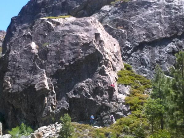 The Gum Drop Boulder. Just left of Candyland. Climber is Jeremy on Gum...