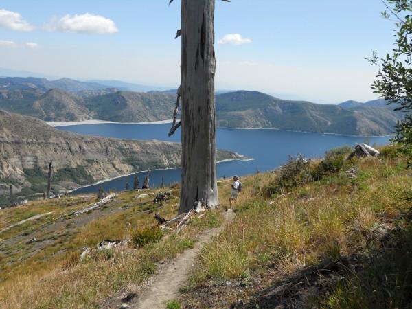 Views of Spirit Lake on the return trip
