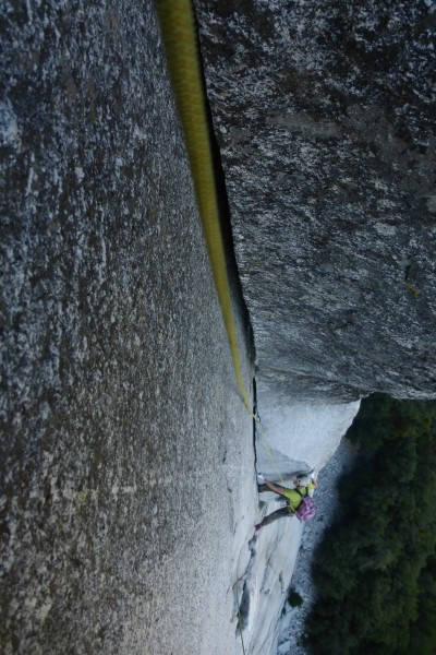 Previously unclimbed 300 ft corner to begin a route that will hopefull...