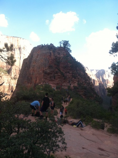Way too busy up here on Angels landing.