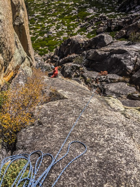 a rope stretching pretty cool 5.9ish pitch.