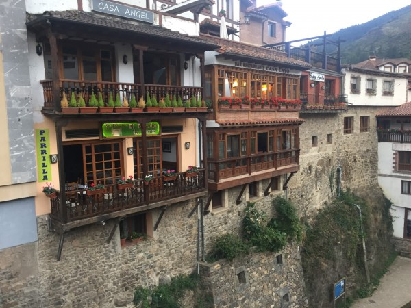 Potes, Spain.  I think we ate in every eatery you can see here. Some w...