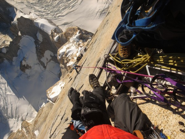 Hanging out on the compressor, Cerro Torre