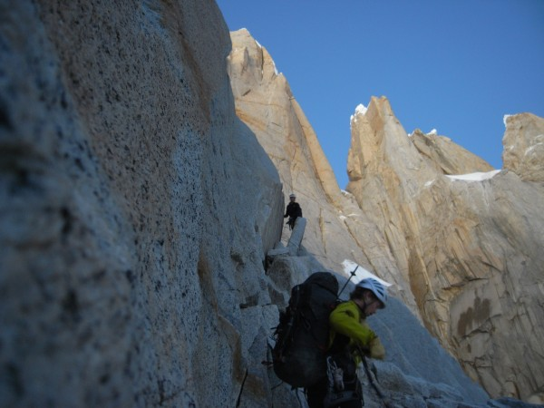 Approach climbing on Cerro Torre.