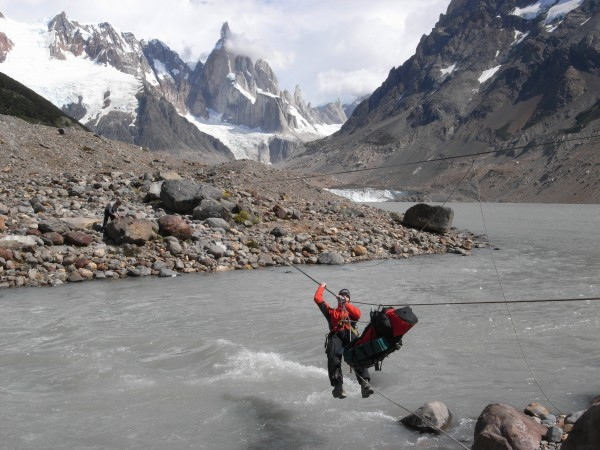 Approach to Cerro Torre.