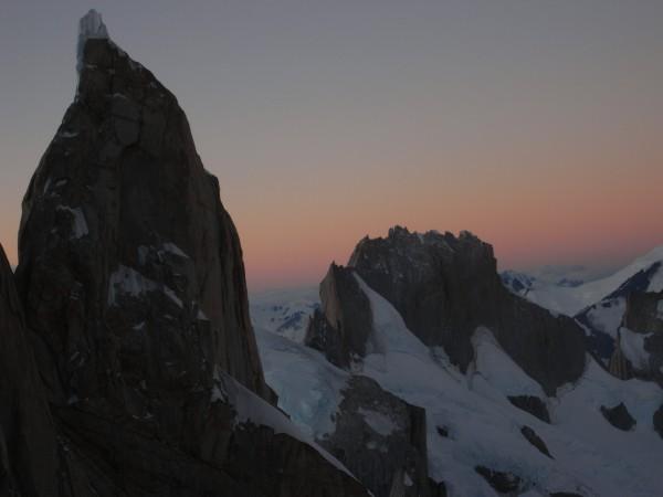 Evening view of Cerro Standhart.
