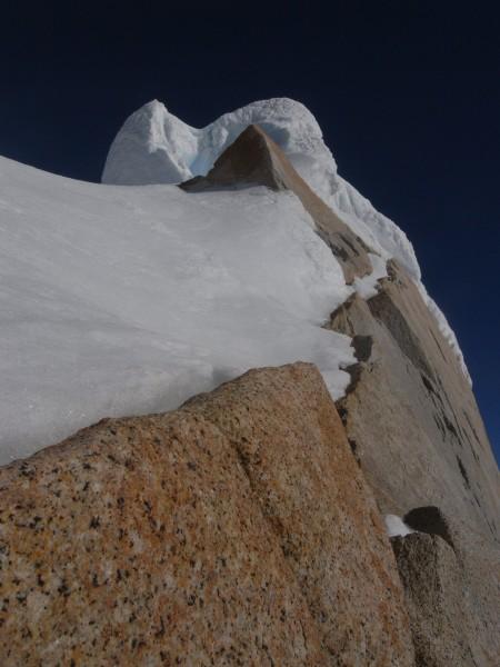 Summit rim of Cerro Torre.